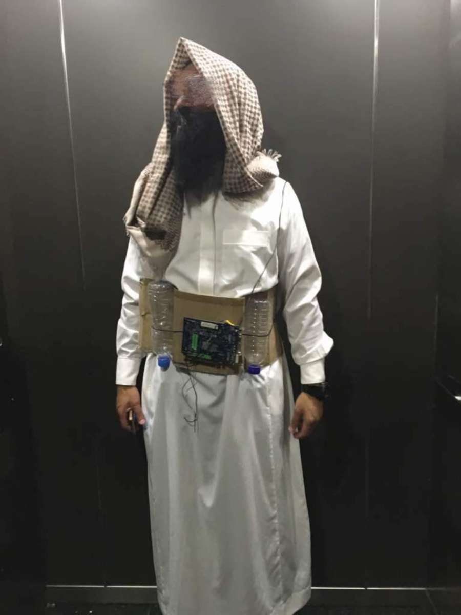 Costume Halloween Man.Man In Halloween Suicide Bomber Costume Charged With Causing