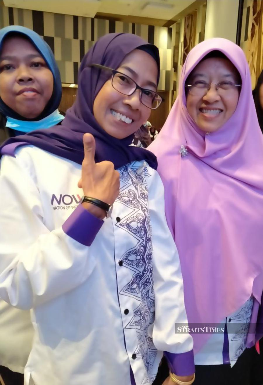 Haniza (right) and Suhaila all smiles after the launch in Johor