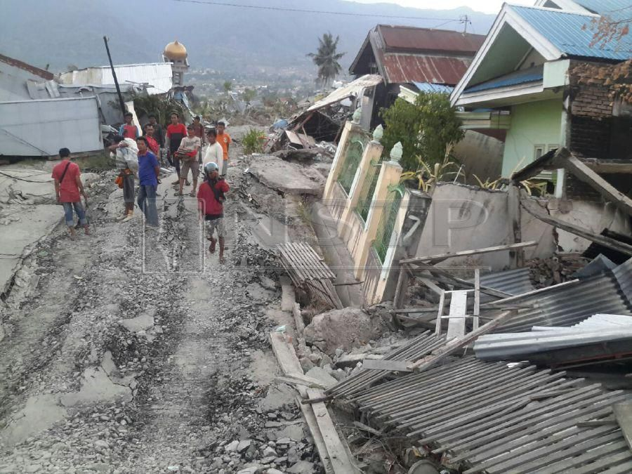 our houses rose five metres into the air before crashing new