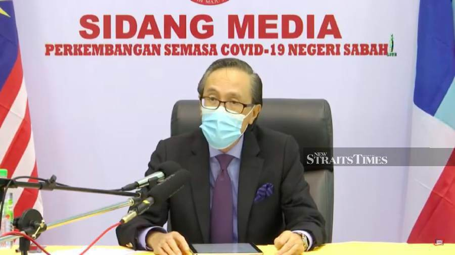 Sabah Covid-19 spokesperson Datuk Seri Masidi Manjun said the medical waste originates from, among others, 45 quarantine centres scattered throughout the state. - NSTP/ AVILA GERALDINE