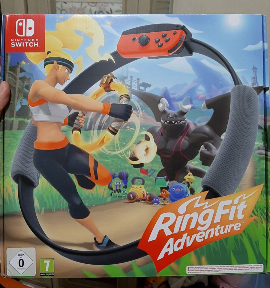Ring Fit Adventure has been especially popular in Japan and has been in and out of stock over the last several weeks. Pic courtesy of Facebook/Migui Minaj