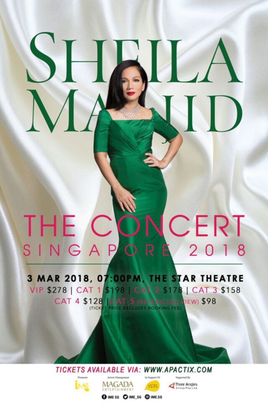 Sheila Majid concert in Singapore on March 3   New Straits