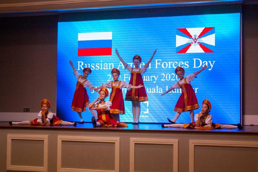 The Matryoshkas (Russian dolls) dance performed by pupils of the Russian School at the 102nd Russian Armed Forces Day at the JW Marriott Hotel in Jalan Bukit Bintaing, Kuala Lumpur. -Pic courtesy of the Russian embassy