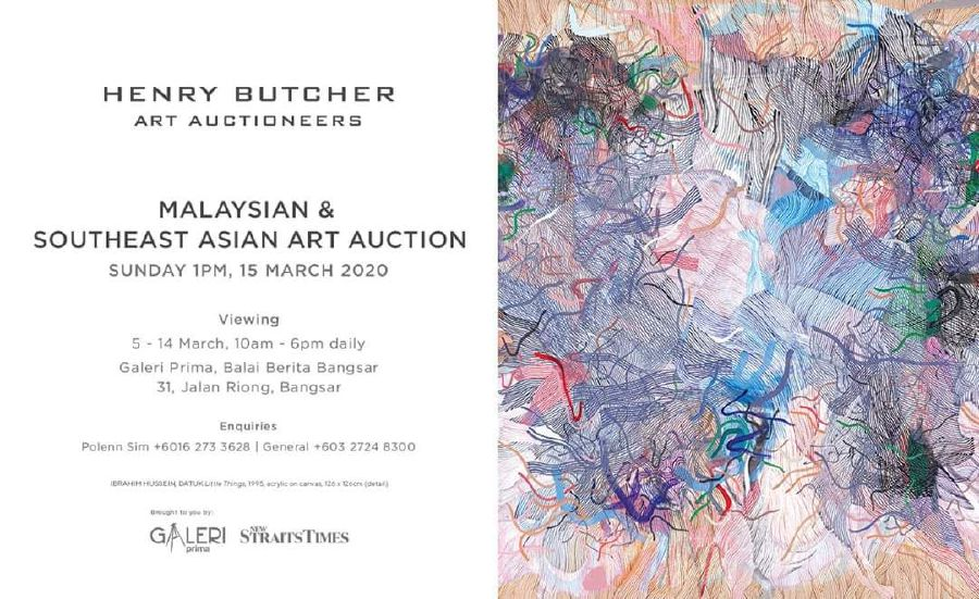 Henry Butcher Malaysian and Southeast Asian Art Auction is set to showcase paintings by Southeast Asian artists at Galeri Prima on March 15.