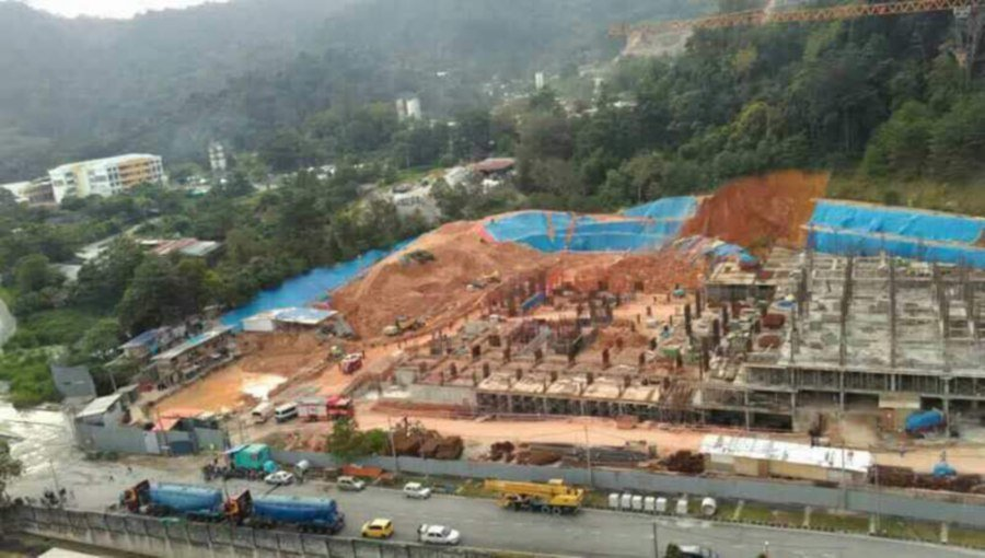 3 dead, search on for others after landslide at Penang construction site