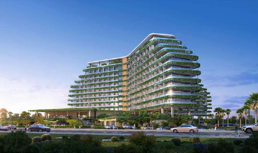New 5 Star Hotel Golf Resort Tourism Icons In Forest City