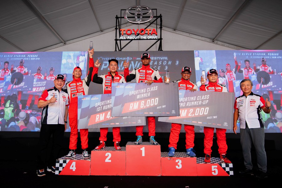 The second and final day of Round 3 of the Toyota Gazoo Racing Festival and Toyota Vios Challenge saw dramatic and nail-biting races at the Batu Kawan Stadium street circuit in Penang.