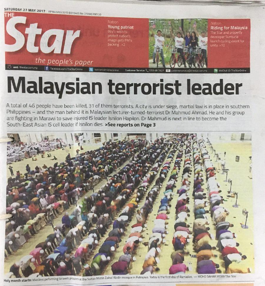 The Star issues apology on its widely criticised May 27 front page ...