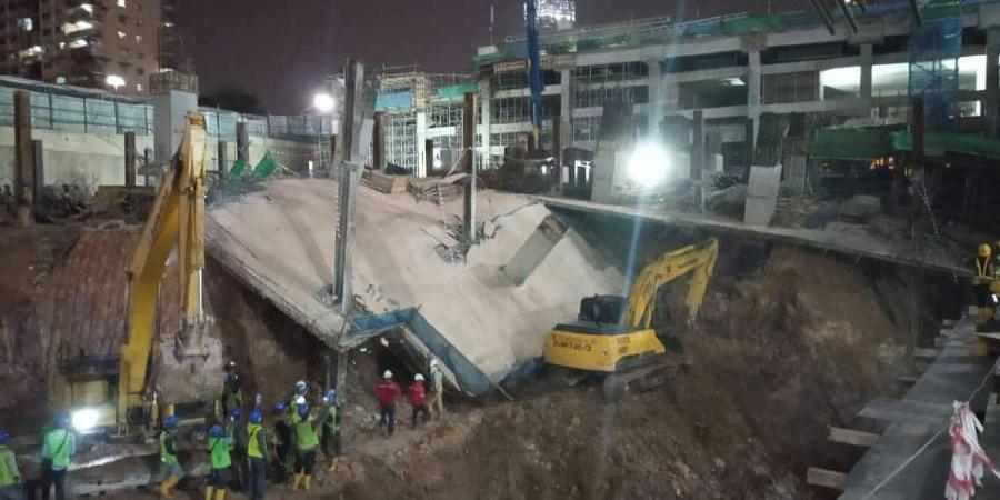 """Eco World Development Group Bhd (EcoWorld) has confirmed that there was """"a localised failure of a slab"""" at the Bukit Bintang City Centre (BBCC) at 8:23pm on Friday. (Photo from Zureme Abdullah)"""
