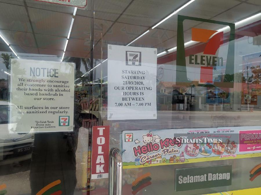 All businesses, including 24-hour convenience stores in five districts – Kuantan, Pekan, Jerantut, Bentong and Temerloh – must close from 7pm to 7am as an additional measure to curb the Covid-19 outbreak in Pahang. - NSTP/T.N. ALAGESH