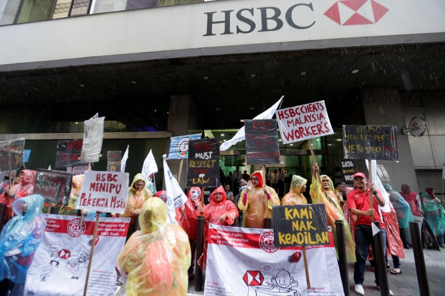 200 HSBC employees picket over alleged injustice | New