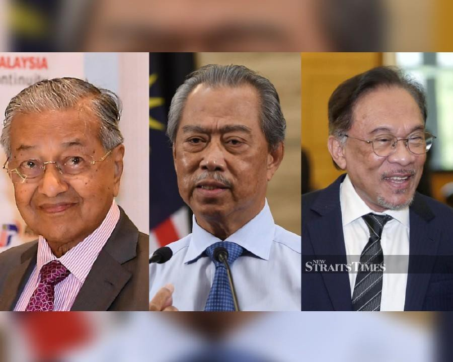 Tun Dr Mahathir Mohamad and Datuk Seri Anwar Ibrahim said they do not recognise the government led by Prime Minister Tan Sri Muhyiddin Yassin. -NSTP File pic