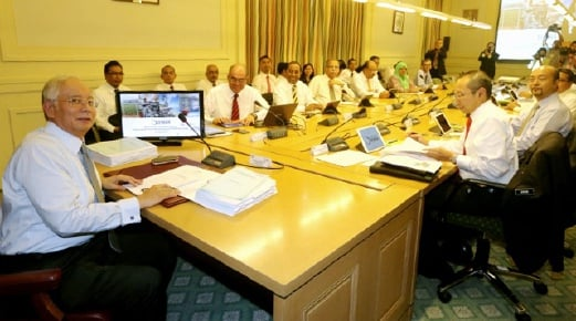 Prime Minister Datuk Seri Najib Razak chairs the 14th Northern Corridor Implementation Authority (NCIA) meeting in Putrajaya