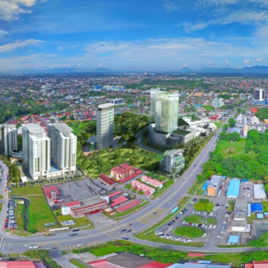 Kuching Paragon integrated development in Kuching, Sarawak by Naim Group of companies. Image source from naimproperties.com.my