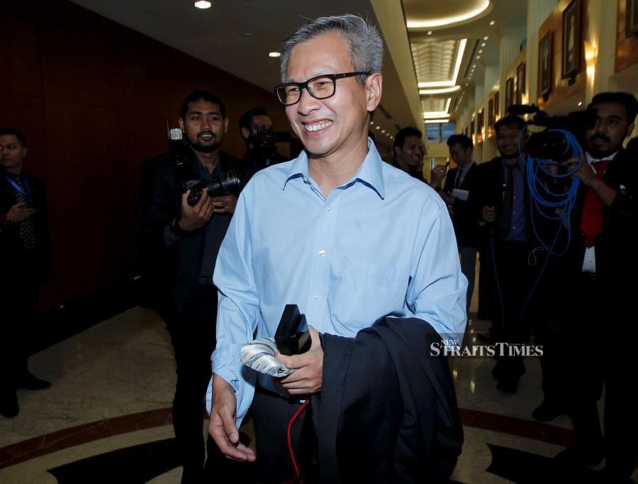 (File pic) Tony Pua Kiam Wee was appealing against the Kuala Lumpur High Court's decision on July 30, 2018 allowing Najib to withdraw his suit against him despite the latter's objection. (NSTP/SADDAM YUSOFF)