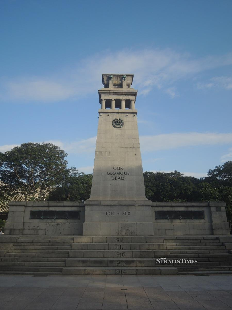 The Cenotaph honours those who fell in combat during the two World Wars.