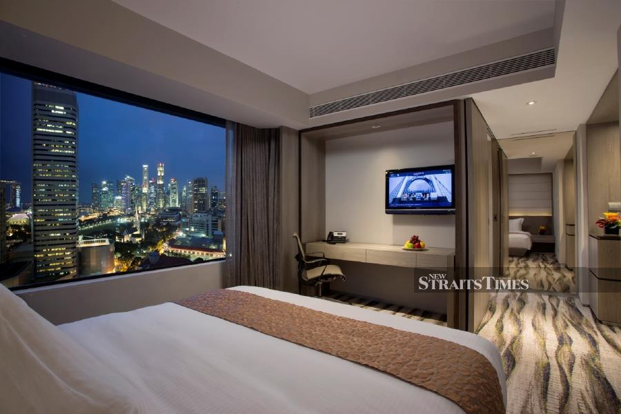 The rooms at Carlton Hotel are tastefully decorated and comfortable.