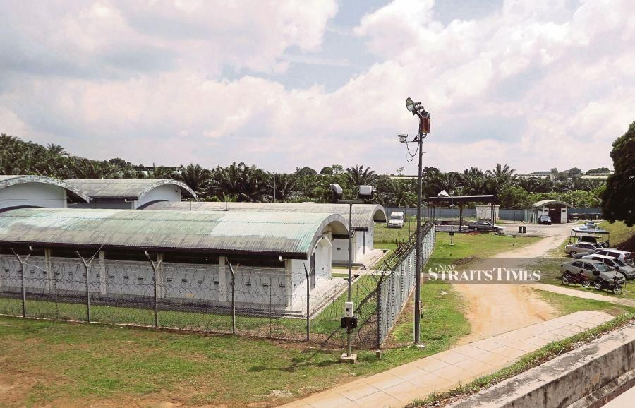Eight out of the 115 detainees at the Sepang Immigration detention depot have tested positive for Covid-19 as of noon today, following the second screening test done before their deportation.  - NSTP file pic