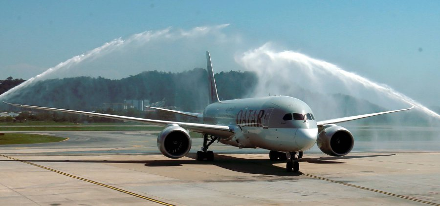 Qatar airways commences inaugural service to penang new straits qatar airways commences inaugural service to penang stopboris Choice Image