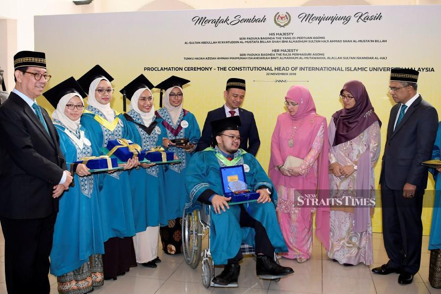 Her Majesty also expressed proud over the efforts of IIUM in prioritising 'special needs' students and staff as well as the outreach efforts towards those in need of education. (BERNAMA)