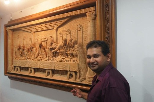 Feat On A Feast: Carvings Of Da Vinci's 'The Last Supper' Causing Sensation In M'sia