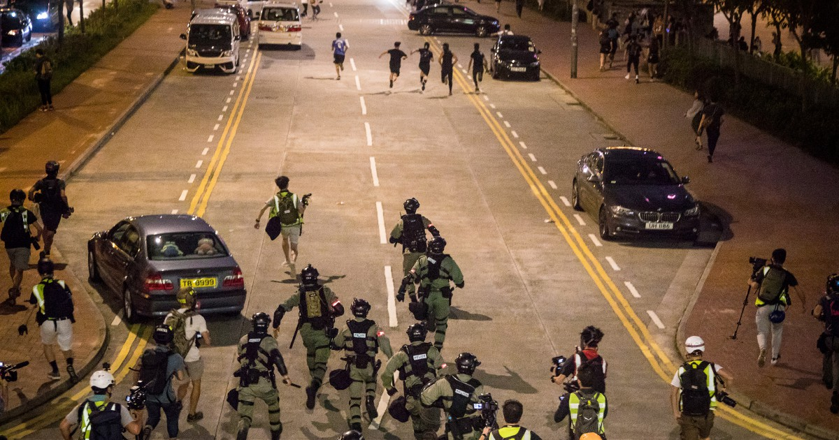 Hong Kong violence escalates as homemade bomb detonates