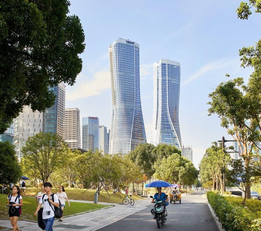 Raffles City project in Hangzhou, China. Photo courtesy of UNStudio