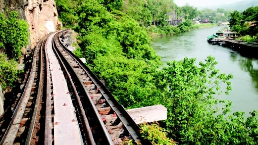 The infamous Death Railway was the subject of the Hollywood film 'Bridge on the River Kwai'.