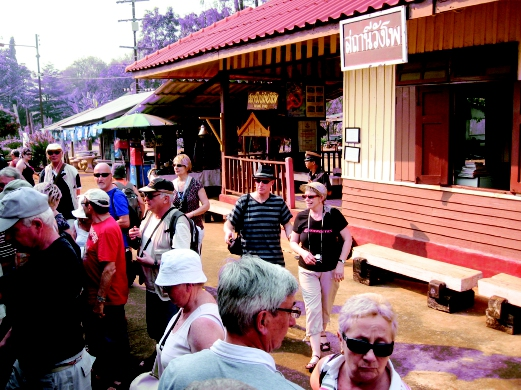 The Death Railway site in Thailand is a popular attraction for foreign tourists.
