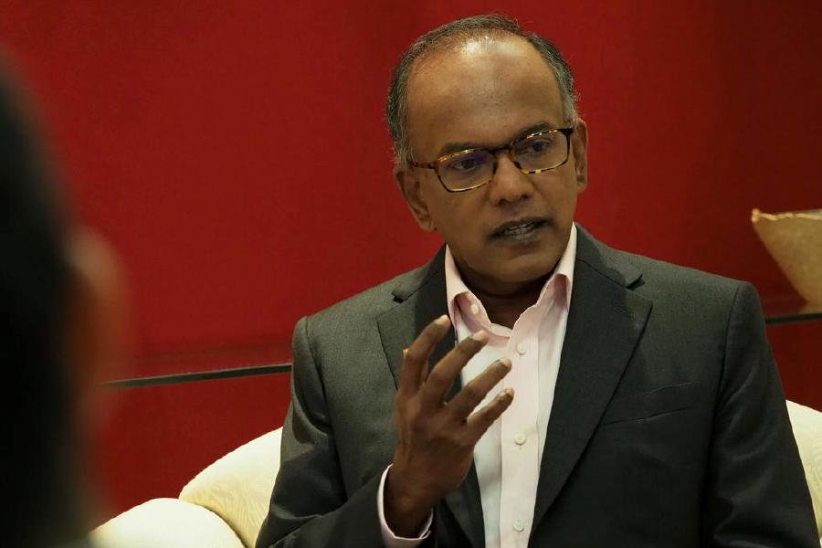 Home Affairs and Law Minister K Shanmugam slammed the comments made by Abdul Al-Halim on Jan 29, saying that they were silly, can be rebutted by reference to other examples and xenophobic. Pic courtesy of TodayOnline