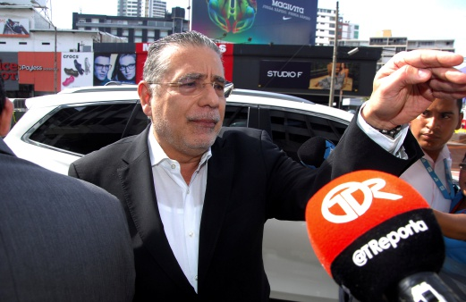 Ramon Fonseca, founding partner of law firm Mossack Fonseca, gestures as he arrives at the Public Ministry office for the Odebrecht corruption case in Panama City, Panama. REUTERS
