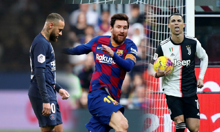 (From left) Neymar, Messi and Ronaldo are the three best-paid footballers in the world.