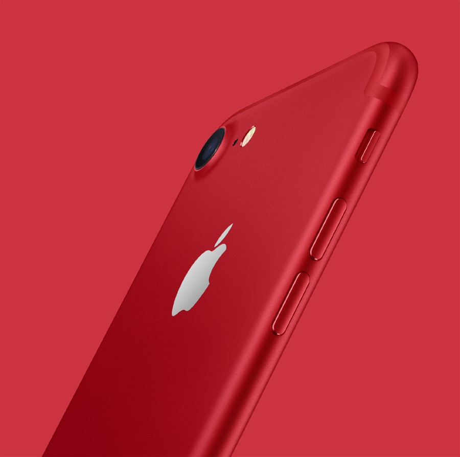 IPhone 7 turns red to help fight AIDS