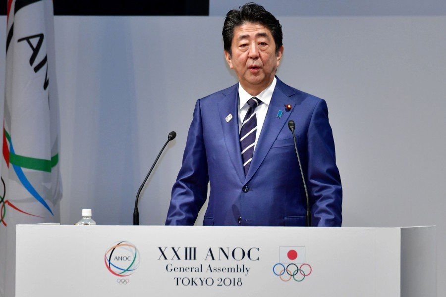 "A decision to postpone the 2020 Olympics ""may become inevitable"" if the new coronavirus outbreak makes it impossible to hold the Games safely, Japan's prime minister Shinzo Abe said.- AFP pic"