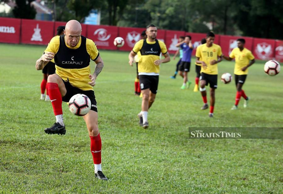 Selangor's Taylor Regan (left) says football is nothing without its fans. -NSTP/SADDAM YUSOFF
