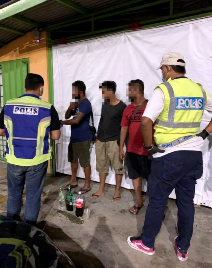 Some of those arrested by police in Petaling Jaya. - Pic courtesy of police.