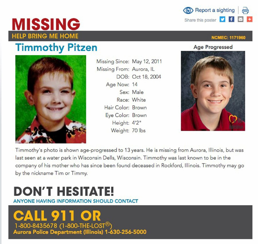 Teen found in Kentucky is not missing boy Timmothy Pitzen, but an ex