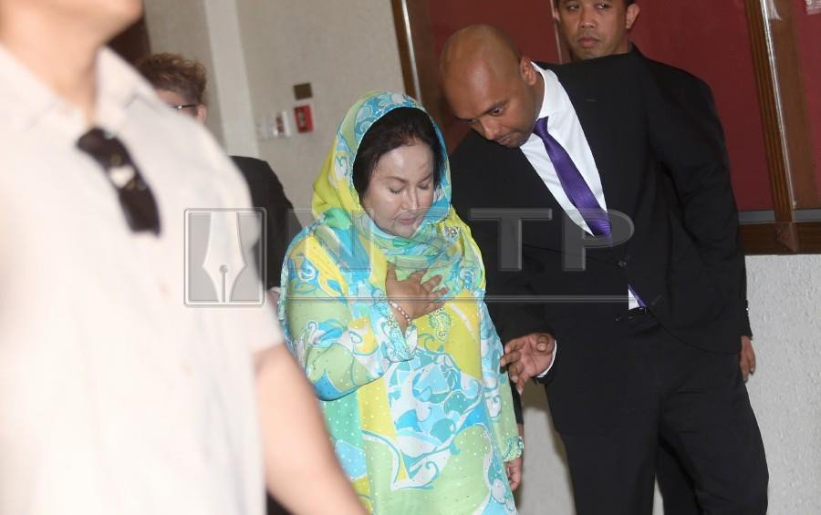 Datin Seri Rosmah Mansor arrives at the Sessions Court in Kuala Lumpur. - NSTP/MOHAMAD SHAHRIL BADRI SAALI