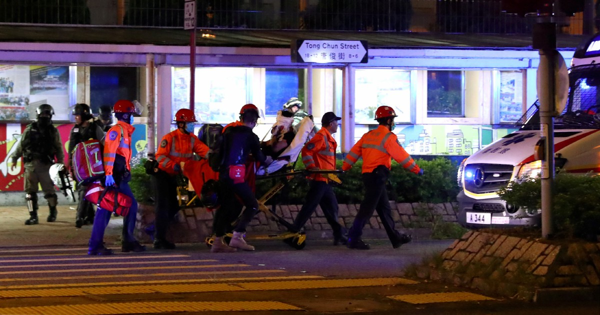 Hong Kong policeman stabbed by protester; numerous sites vandalised