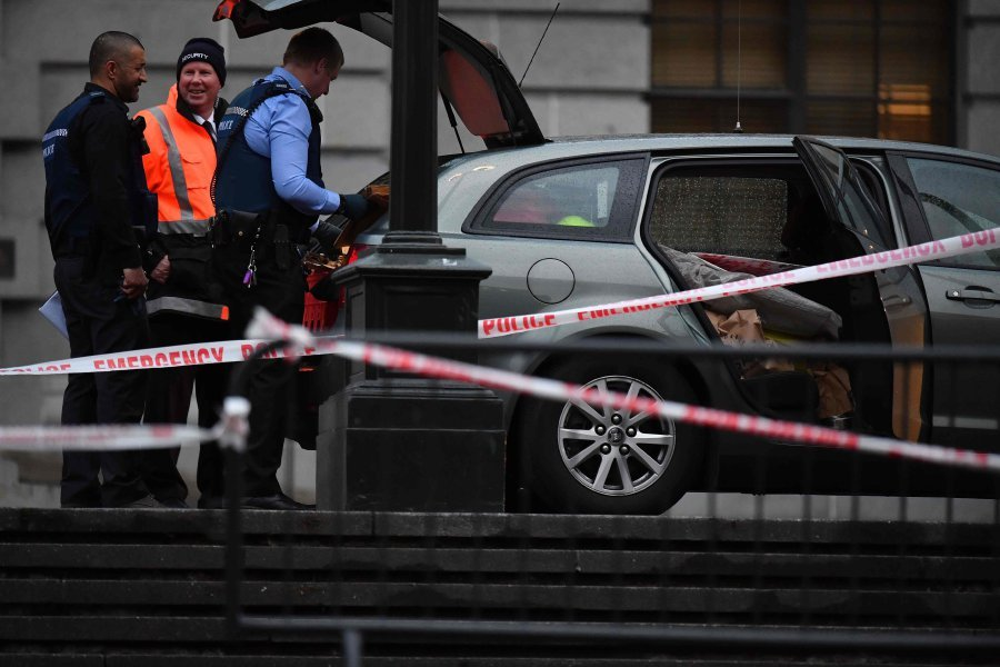 Man who set himself on fire outside parliament dies