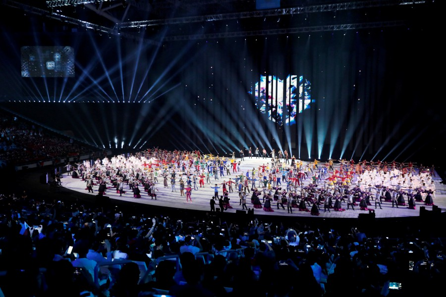 General view during the opening ceremony of the Southeast Asian Games at the Philippine Arena, Bocaue, Philippines on November 30. -Reuters