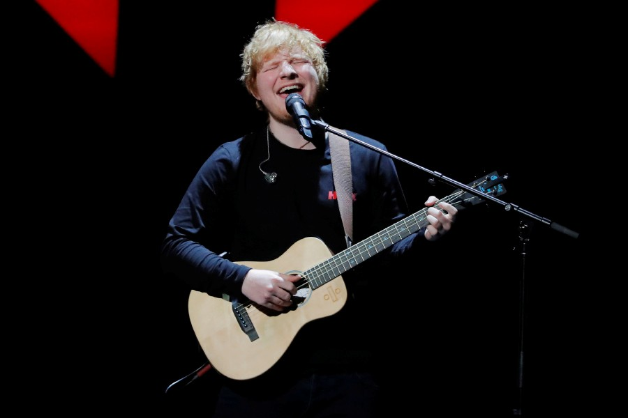 Britain's Ed Sheeran storms US Billboard charts