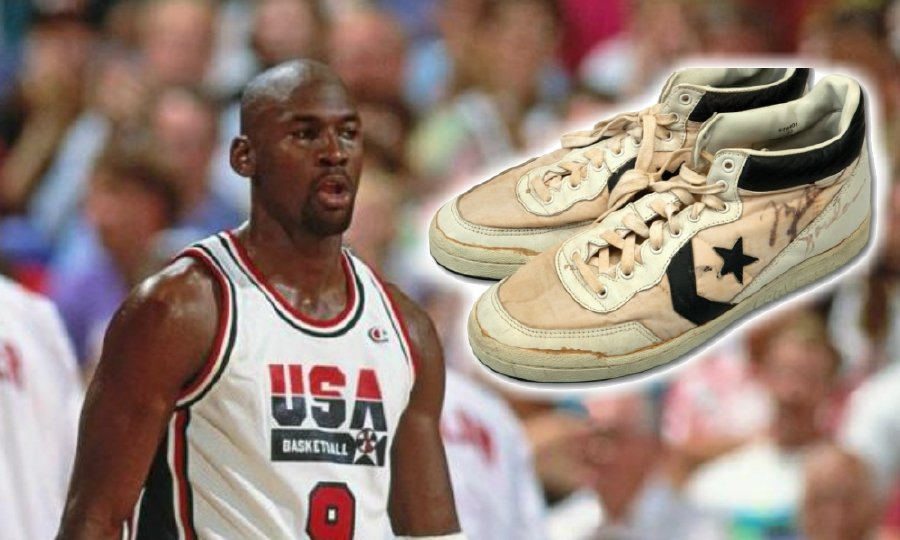 d3aa370f527998 (Basketball) Michael Jordan s game-worn Converse sneakers from 1984  Olympics sell for US 190k