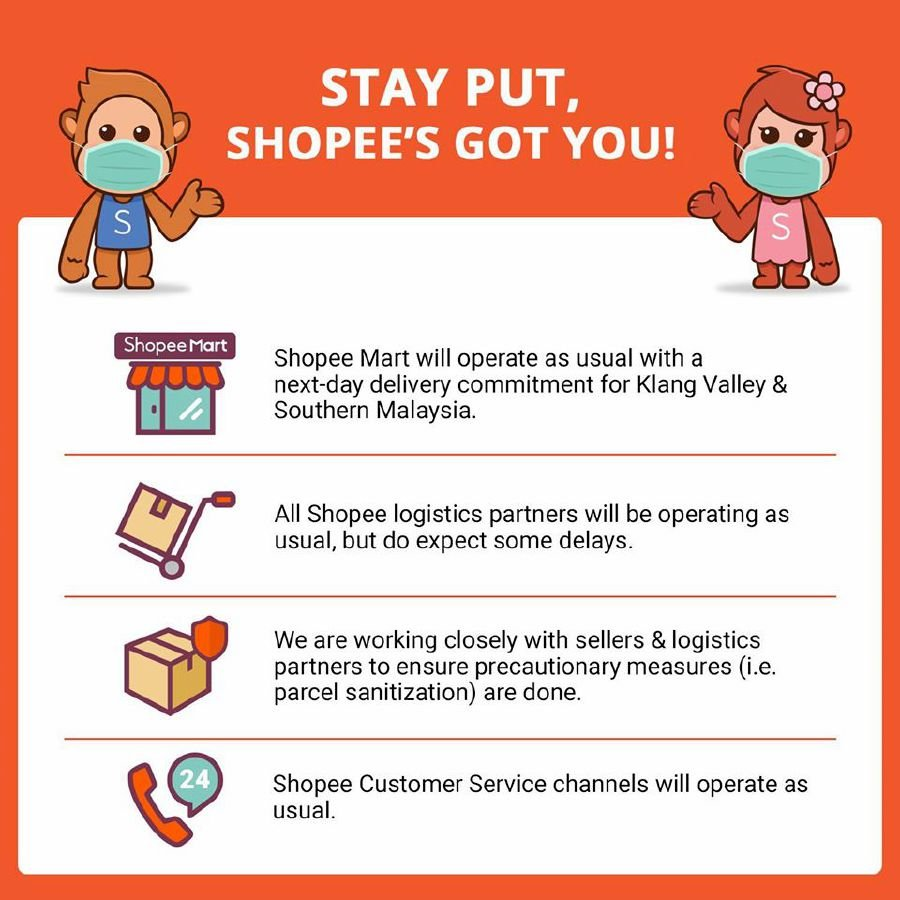 Business As Usual For Shopee During Restricted Movement Order Period