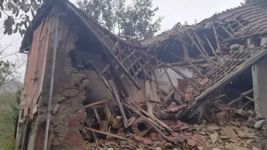 The damaged home of the couple in Campo Ligure. - Pic source: ilsecoloxix