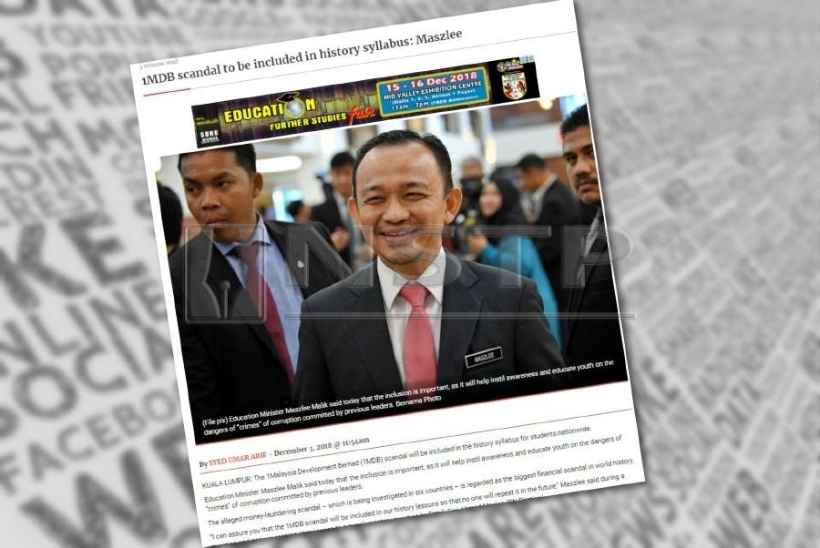 Najib says Maszlee himself will end up in history books over 1MDB