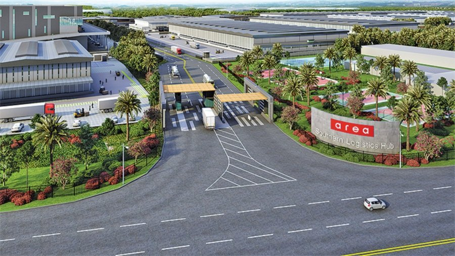 An artist's impression of The COMPASS, Area Managament's planned logistics hub in Kota Seri Langat.