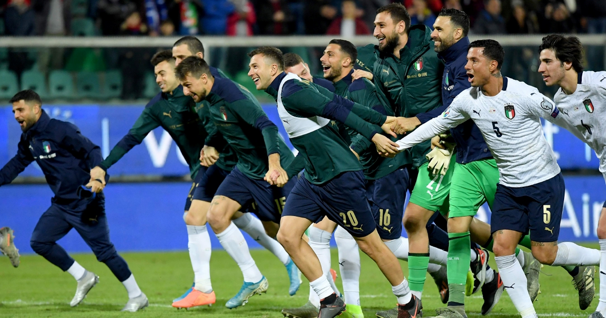 Italy crush Armenia 9-1 in finale to perfect Euro 2020 qualifying