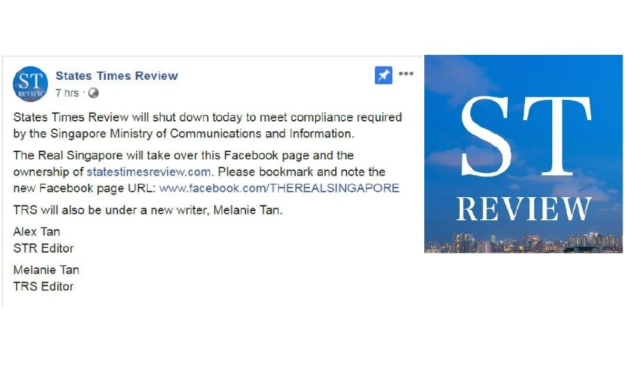 The States Times Review (STR) were ordered to display a Declared Online Location (DOL) on its Facebook page.
