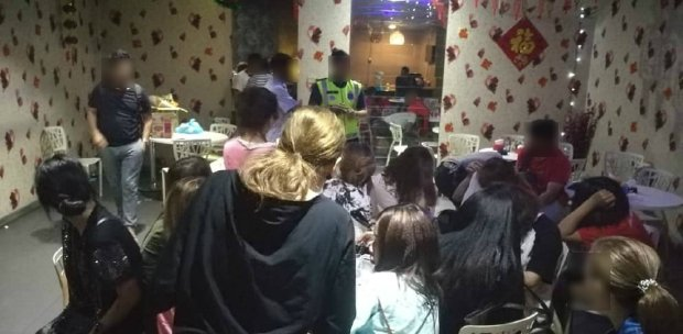 18 foreign women arrested at massage centre which uses